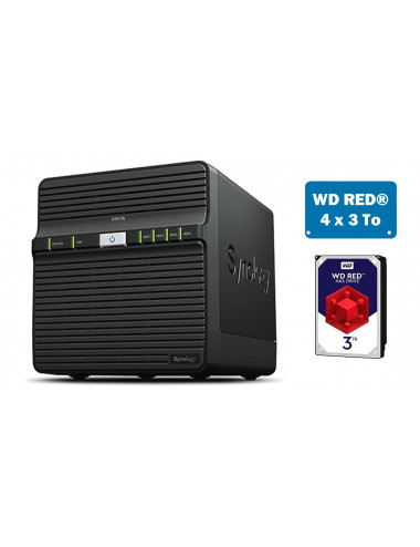 Synology DS418J Server NAS - SATA 6Gb/s - 12 TB