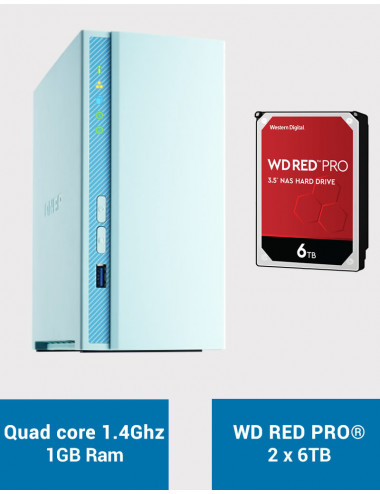 QNAP TS-230 Serveur NAS WD RED PRO 12To (2x6To)
