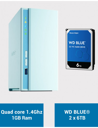 QNAP TS-230 Serveur NAS WD BLUE 12To (2x6To)