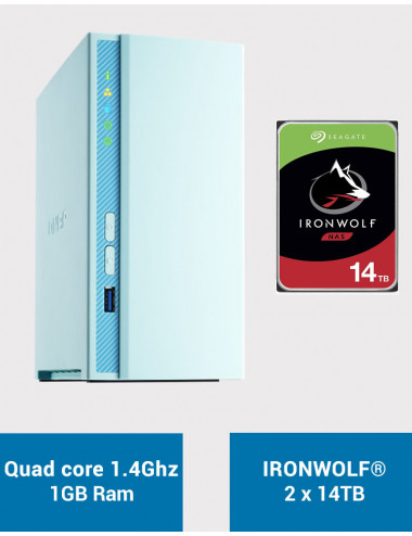 QNAP TS-230 Serveur NAS IRONWOLF 28To (2x14To)