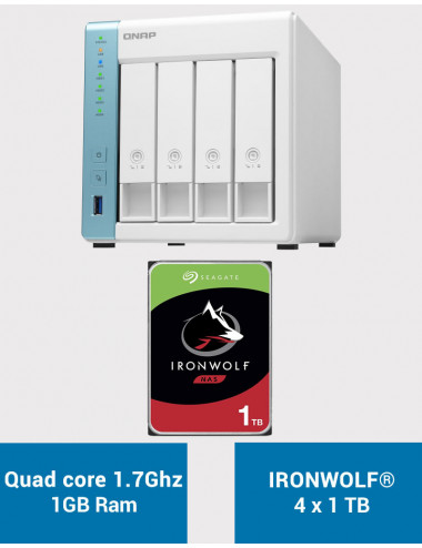 QNAP TS-431K Serveur NAS IRONWOLF 4To (4x1To)
