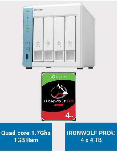 QNAP TS-431K Serveur NAS IRONWOLF PRO 16To (4x4To)