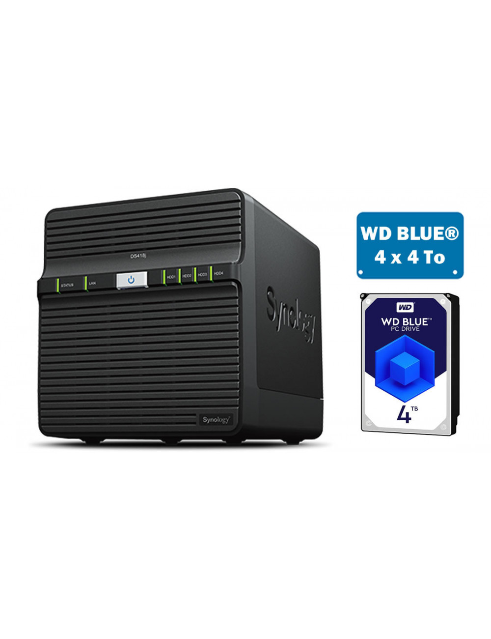 Synology DS418J Server NAS - SATA 6Gb/s - 16 TB