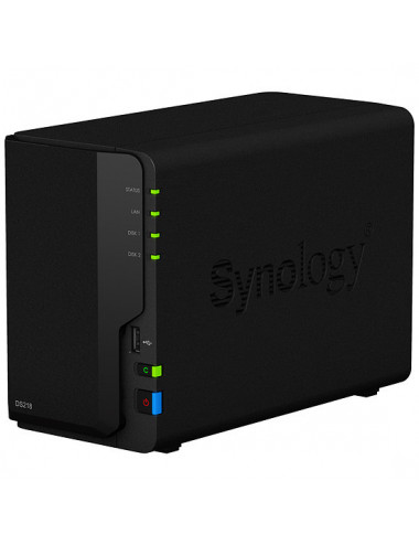 Synology DiskStation DS218 Vue de 3/4 avant