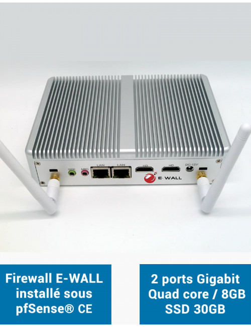 Firewall E-WALL EG2830W under pfSense® CE 2 ports 8GB SSD 30GB