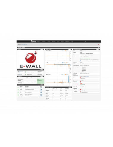 Firewall E-WALL AP232 pfsense Dashboard