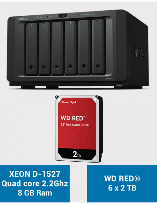 Synology DS1621xs+ Serveur NAS WD RED 12To (6x2To)