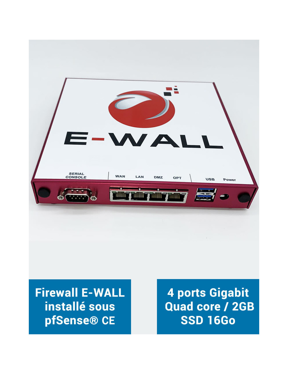 Firewall E-WALL AP442 under pfSense® CE 4 ports 2GB SSD 16GB