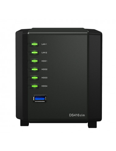 Synology DS416SLIM NAS Server - SATA 6Gb/s - Full SSD 3.8 TB