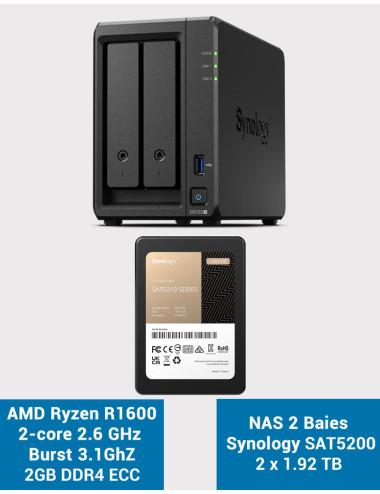Synology DS416SLIM NAS Server - SATA 6Gb/s - Full SSD 3.8 TB