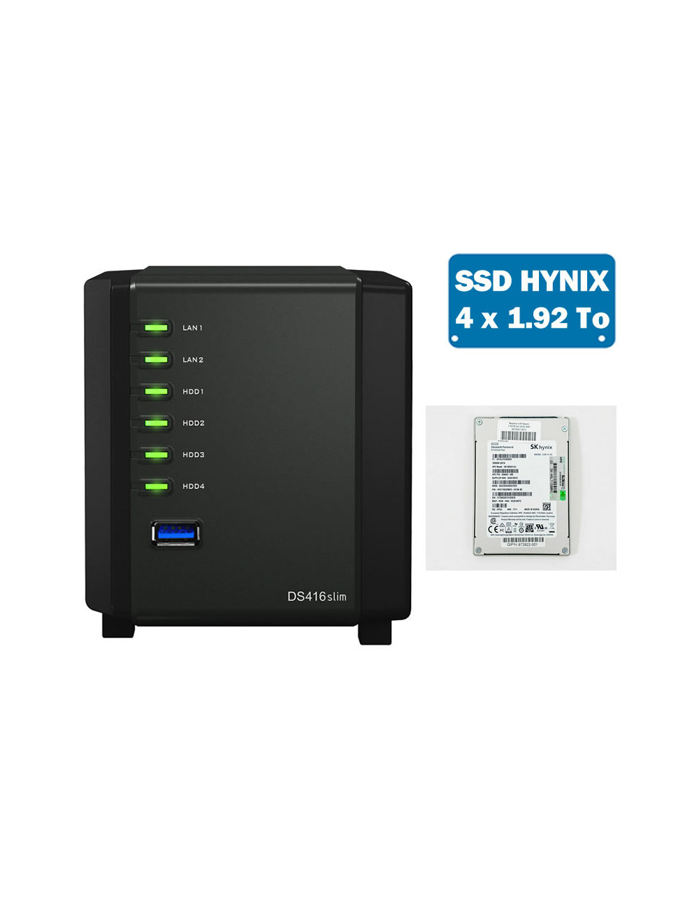 Synology DS416SLIM Serveur NAS Full SSD