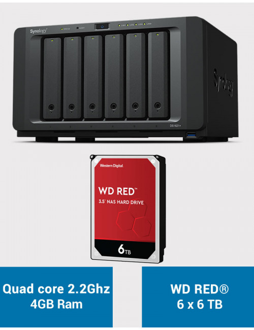 Synology DS1621+ Serveur NAS WD RED 36To (6x6To)