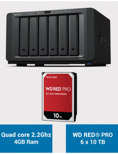 Synology DS1621+ Serveur NAS WD RED PRO 60To (6x10To)