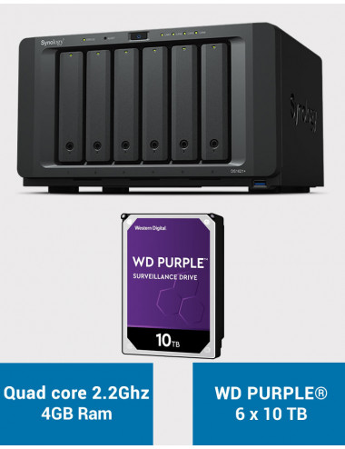 Synology DS1621+ Serveur NAS WD PURPLE 60To (6x10To)