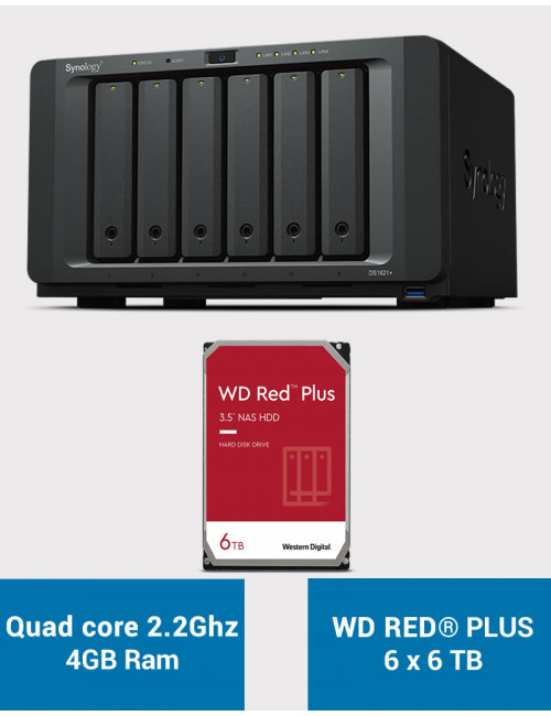 Synology DS1621+ Serveur NAS WD RED PLUS 36To (6x6To)