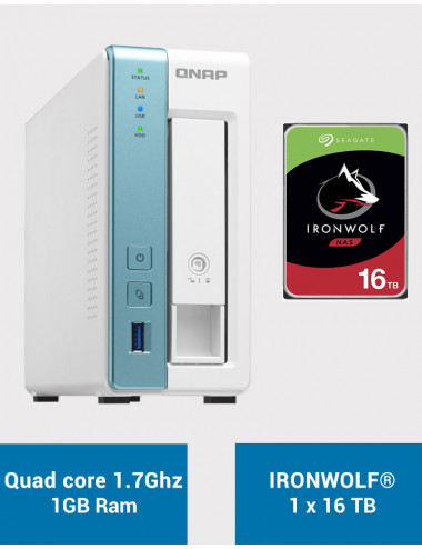 QNAP TS-131K Serveur NAS IRONWOLF 16To (1x16To)