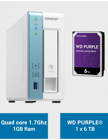 QNAP TS-131K Serveur NAS WD PURPLE 6To (1x6To)