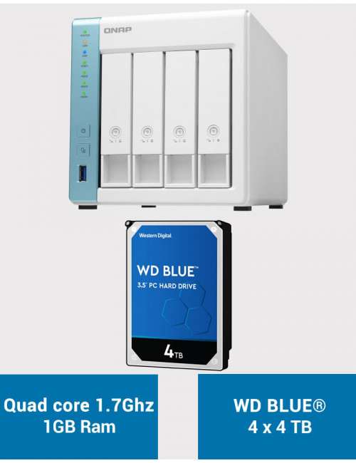 QNAP TS-431K Serveur NAS WD BLUE 16To (4x4To)