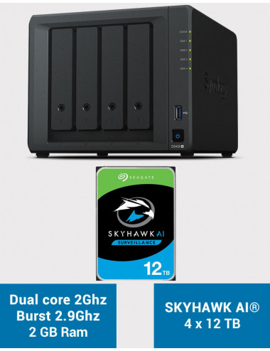 Synology DS420+ 2Go Serveur NAS SKYHAWK 48To (4x12To)