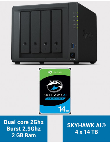 Synology DS420+ 2Go Serveur NAS SKYHAWK 56To (4x14To)