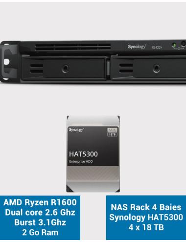 Synology DS1019 + NAS Server - SATA 6Gb / s - 5 TB WDBLUE