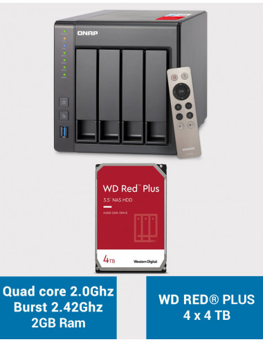 QNAP TS-451+ 2Go Serveur NAS WD RED PLUS 16To (4x4To)