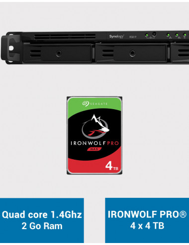 Synology RS819 Serveur NAS IRONWOLF PRO 16To (4x4To)