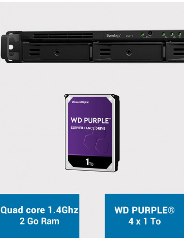 Synology RS819 Serveur NAS WD PURPLE 4To (4x1To)