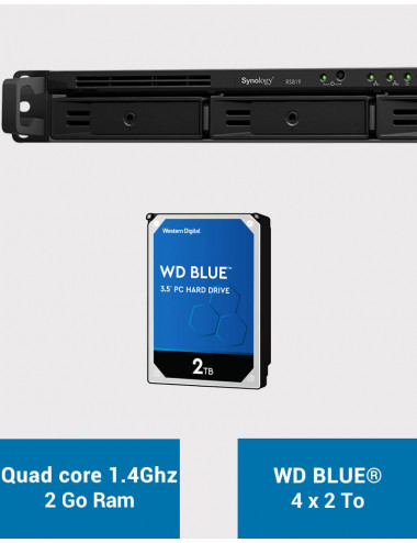 Synology RS819 Serveur NAS WD BLUE 8To (4x2To)