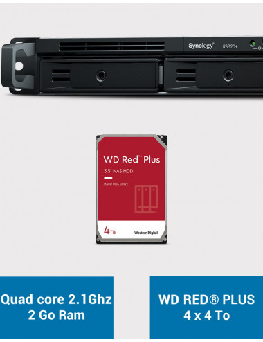 Synology RS820+ Serveur NAS WD RED PLUS 16To (4x4To)