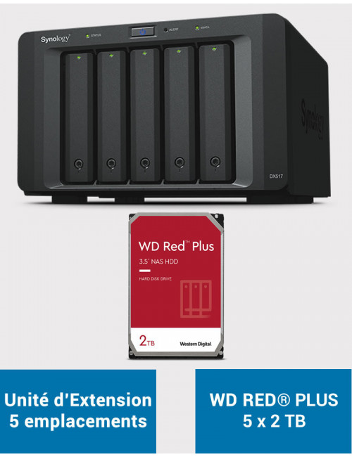 Synology DX517 Unité d'extension WD RED PLUS 10To (5x2To)