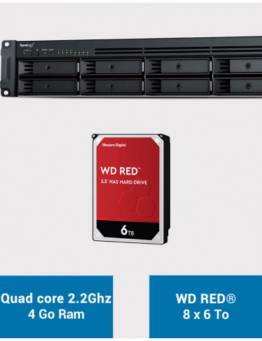 Synology RS1221+ Serveur NAS Rack WD RED 48To (8x6To)