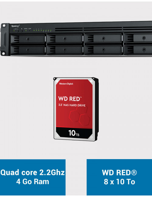 Synology RS1221+ Serveur NAS Rack WD RED 80To (8x10To)