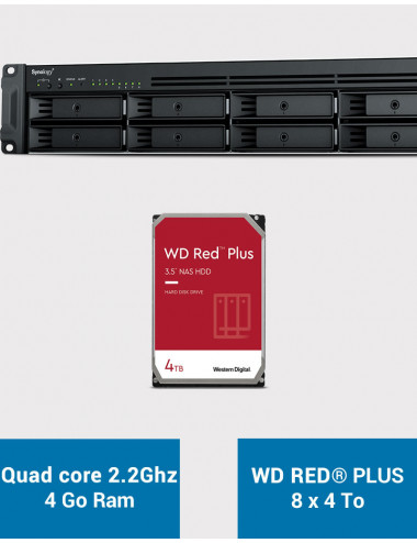 Synology RS1221+ Serveur NAS Rack WD RED PLUS 32To (8x4To)