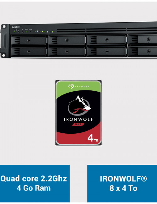 Synology RS1221+ Serveur NAS Rack IRONWOLF 32To (8x4To)