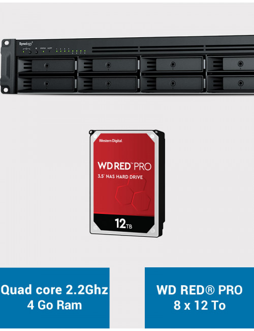 Synology RS1221+ Serveur NAS Rack WD RED PRO 96To (8x12To)