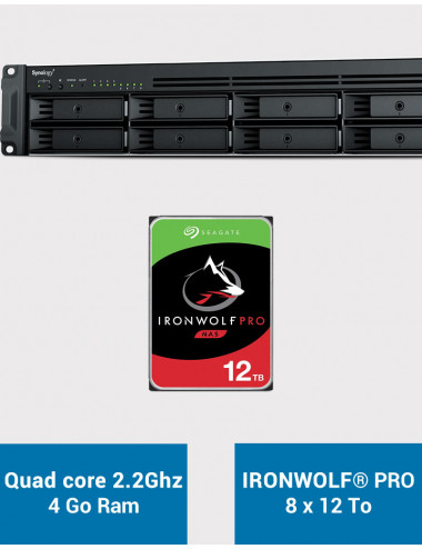 Synology RS1221+ Serveur NAS Rack IRONWOLF PRO 96To (8x12To)