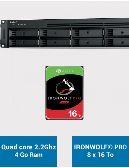 Synology RS1221+ Serveur NAS Rack IRONWOLF PRO 128To (8x16To)