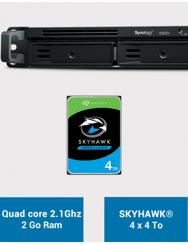 Synology RS820+ 2GB Serveur NAS SKYHAWK 16To (4x4To)