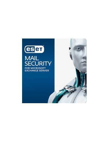 ESET Mail Security Exchange (50-99 Mailbox) - License 1 Mailbox - 1 an