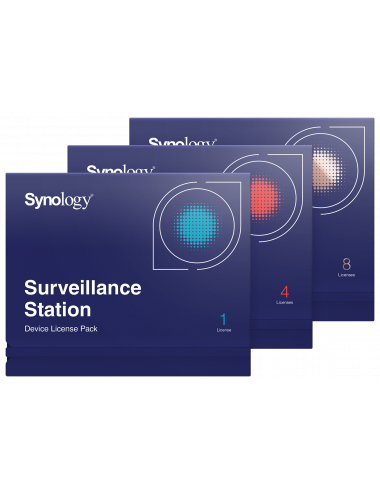 Pack 4 licenses for additional camera on Synology monitoring station