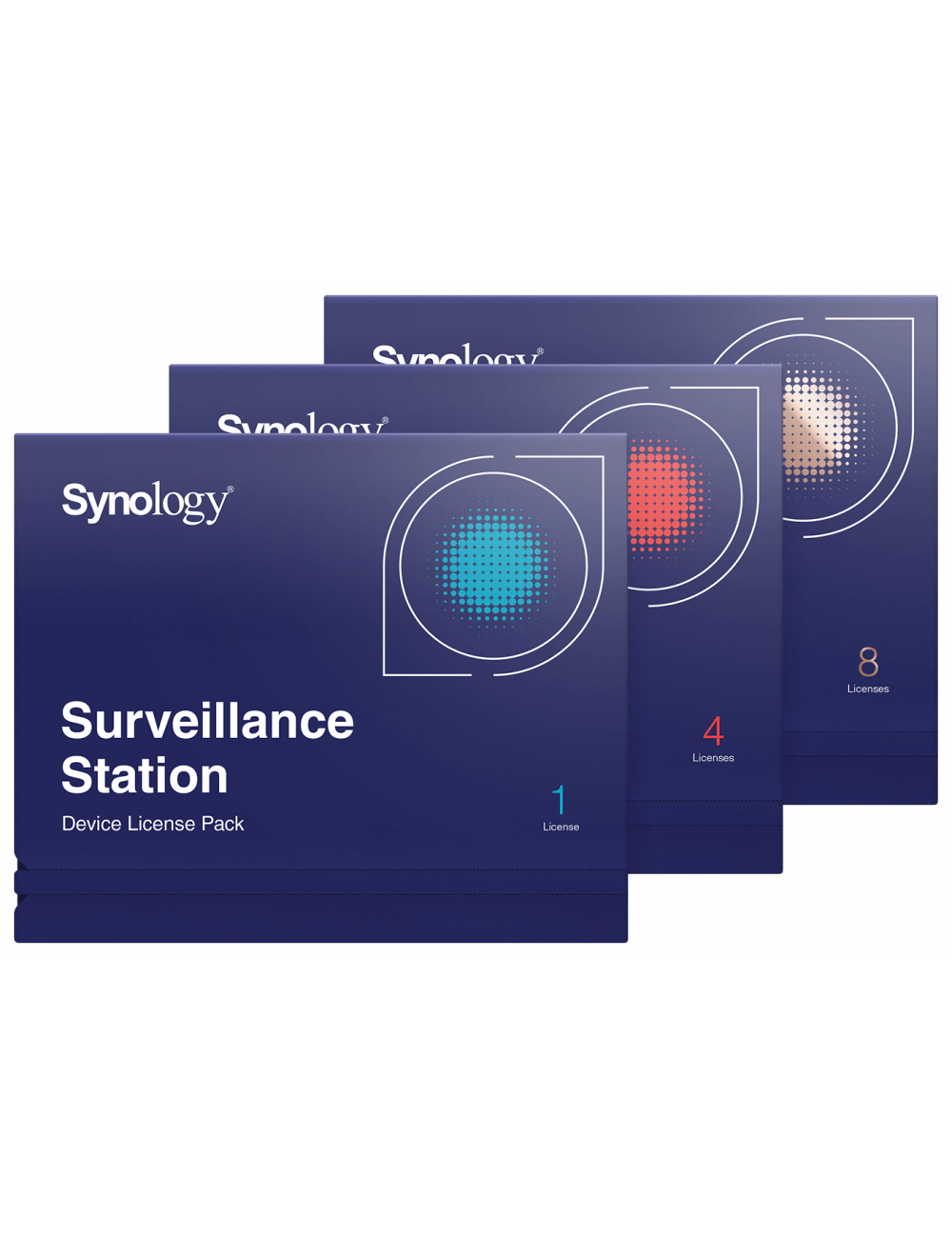 Pack 8 licenses for additional camera on Synology monitoring station