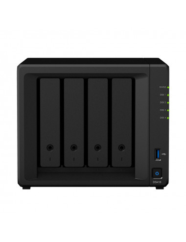Synology DS418 NAS Server - front view