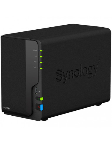 Synology DiskStation DS218+ NU Vue de 3/4 avant