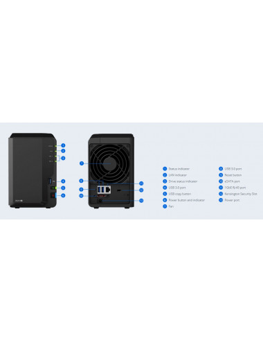 Synology DS218+ NAS Server Detail