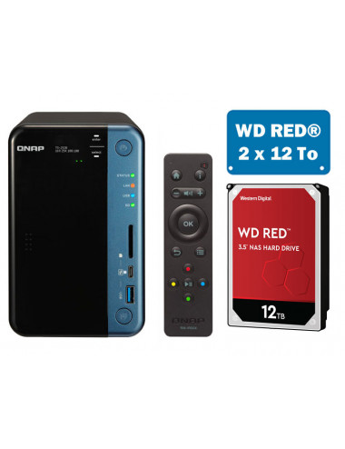 QNAP TS-253B NAS Server WD RED 24TB