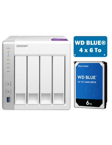 QNAP TS-431P NAS Server WD BLUE 24TB