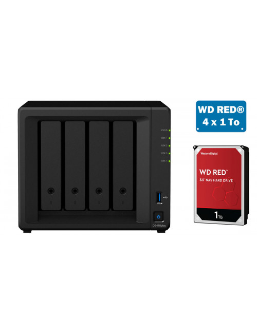 Synology DS418play NAS Server - SATA 6Gb / s - 4 TB