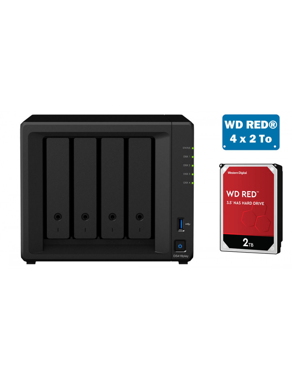 Synology DS418play NAS Server - SATA 6Gb / s - 8 TB
