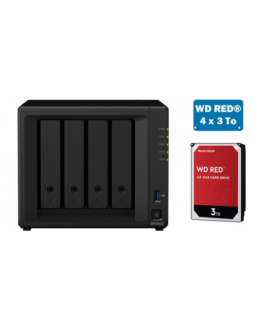 Synology DS418play Serveur NAS - SATA 6Gb/s - 12 To
